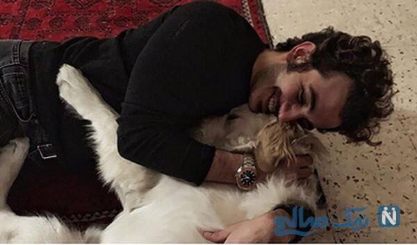 بازی علی شادمان با حیوان خانگی اش