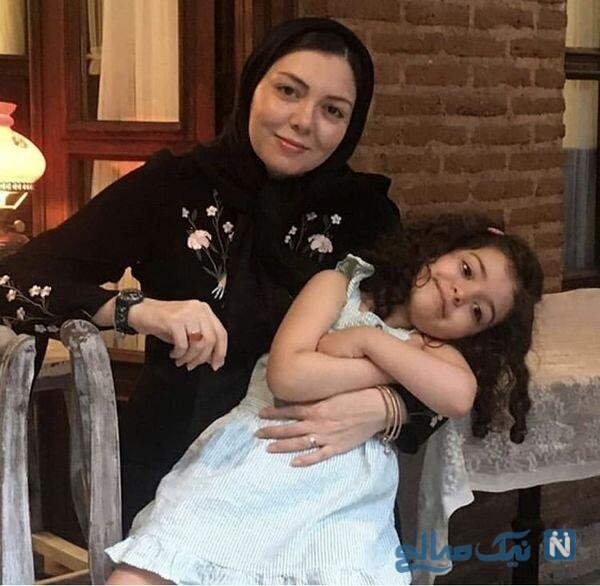 چهره آزاده نامداری مجری معروف و دخترش