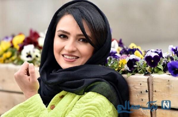 تیپ پاییزی گلاره عباسی با تغییر رنگ موهایش به نارنجی