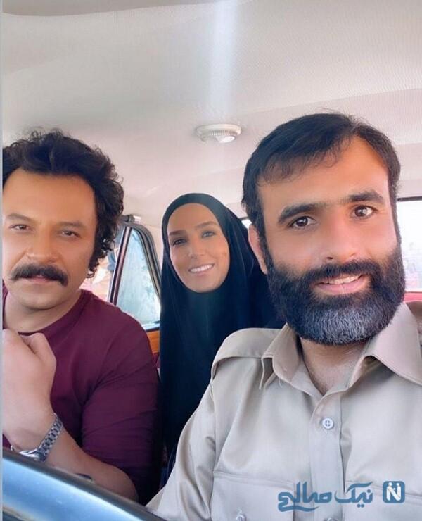 تیپ جدید سوگل طهماسبی و حسام منظور در سریال نجلا