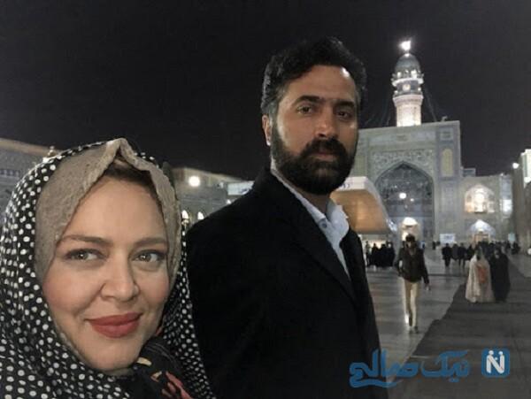 سفرهای بهاره رهنما و همسرش به مشهد
