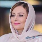 یکتا ناصر با تیپ مشکی در خانه علی سخنگو بازیگر سریال دل