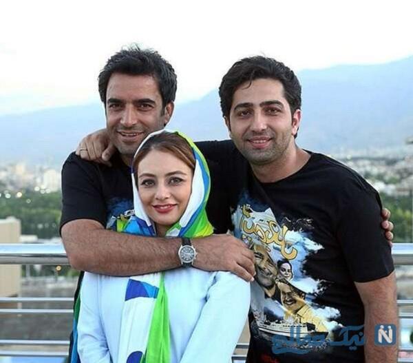 یکتا ناصر و علی سخنگو در کنار منوچهر هادی