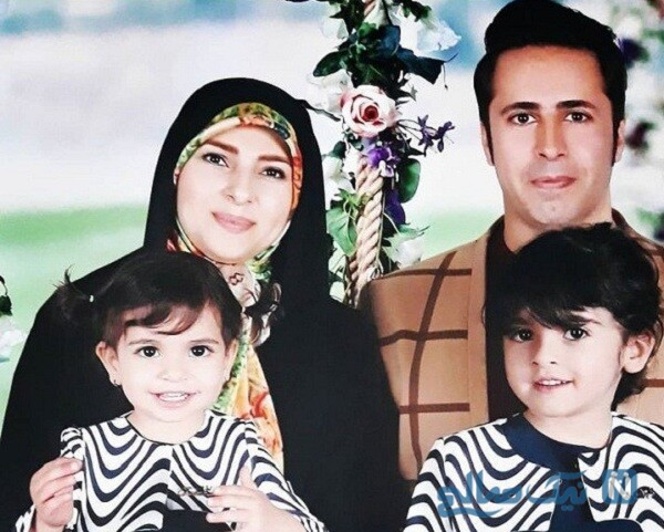 زینب پورابراهیم مجری معروف درکنار همسر و فرزندانش