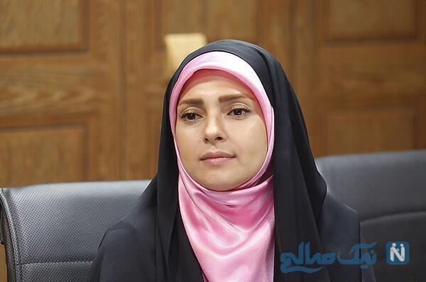 جشن تولد زینب پورابراهیم مجری در محل اجرای برنامه