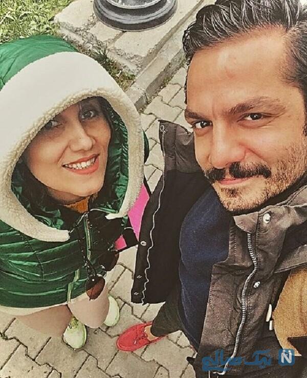 عباس غزالی بازیگر معروف و همسرش