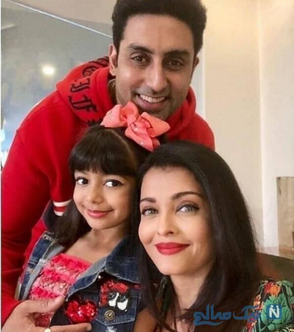 همسر و دختر بازیگر زن هندی