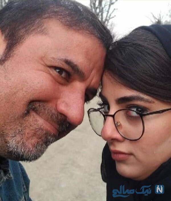 عکس جالب بازیگر مرد و دخترش