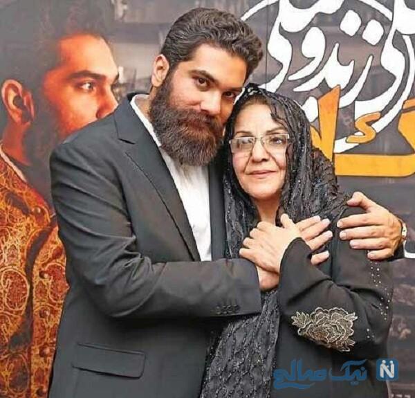 عکس جدید علی زند وکیلی و مادر
