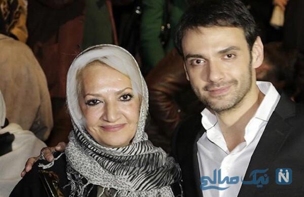 امیرعلی دانایی بازیگر معروف و مادرش