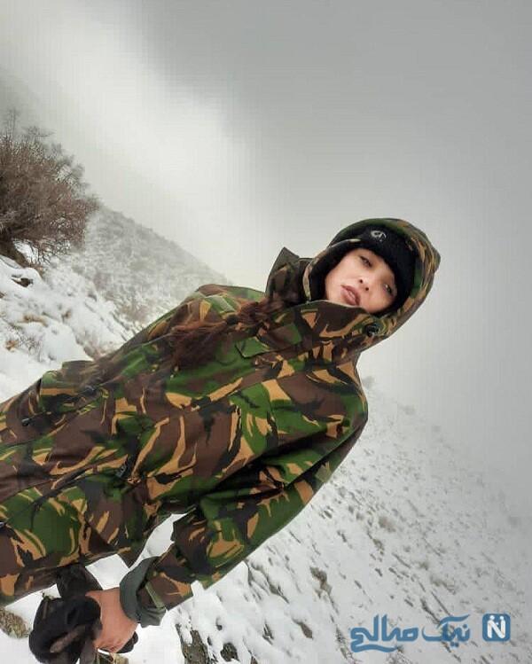 آناهیتا درگاهی با لباس ارتشی