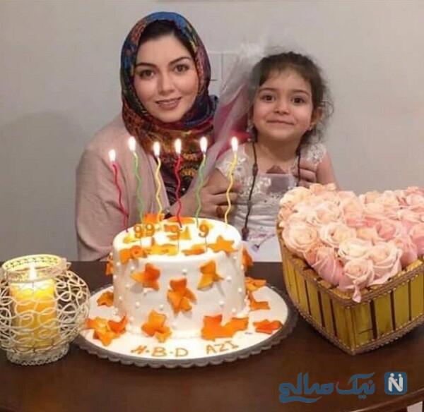 تولد آزاده نامداری درکنار دخترش