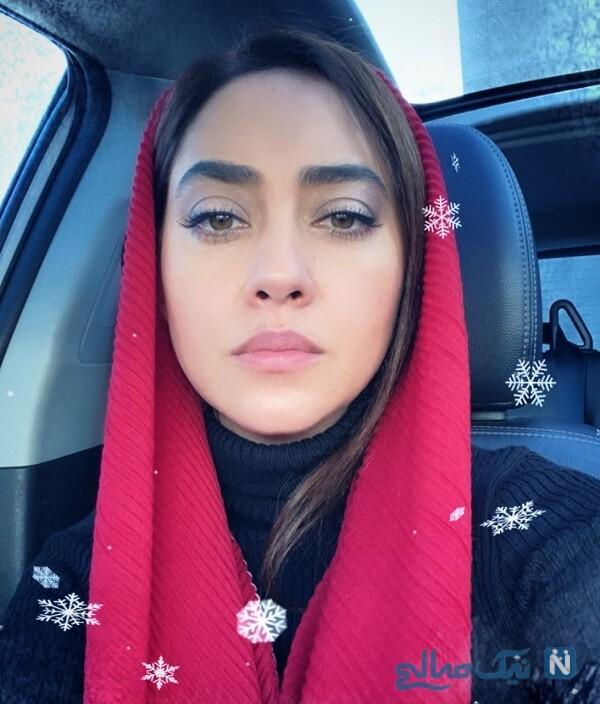 سلفی بازیگر زن
