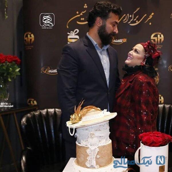 جشن تولد بهاره رهنما درکنار همسرش