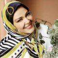 بهاره رهنما همراه منوچهر هادی و ساره بیات در پشت صحنه سریال گیسو