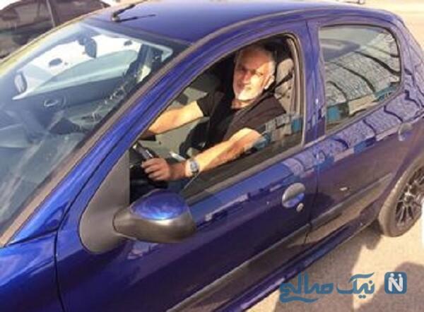 بیژن بنفشه خواه در خودرو لاکچری اش
