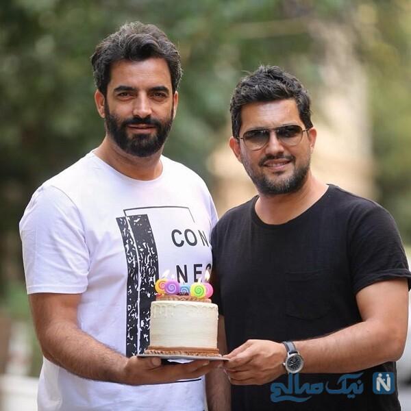 تبریک تولد منوچهر هادی برای حامد بهداد