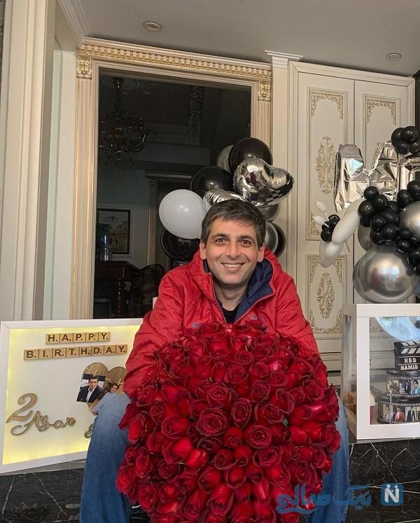 جشن تولد لاکچری حمید گودرزی با هدایای زیبا و خاص