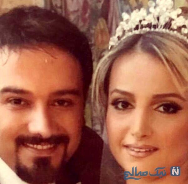 عکس عروسی برزو ارجمند و همسرش