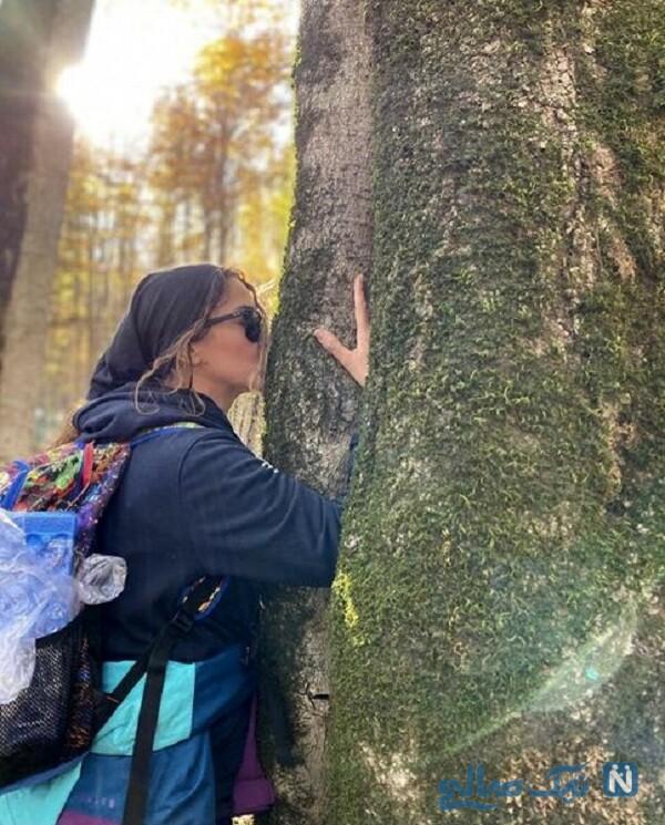 آنا نعمتی در طبیعت زیبا