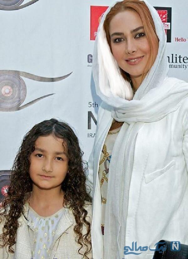 تیپ آنا نعمتی در کنار دخترش