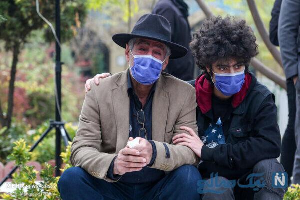 مراسم خاکسپاری پیکر هنرپیشه ایرانی
