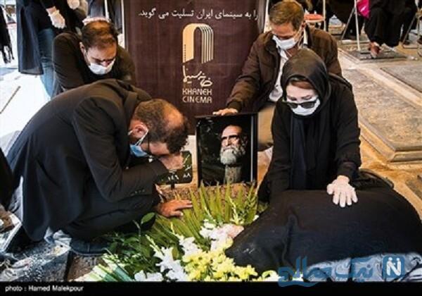 تشییع کریم اکبری مبارکه بازیگر