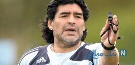 سلفی جنجالی با جسد بدون پوشش مارادونا در پزشکی قانونی