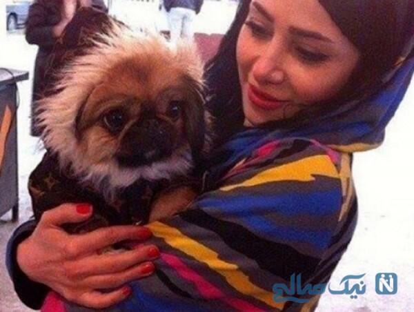 تصویری از الناز حبیبی و سگش