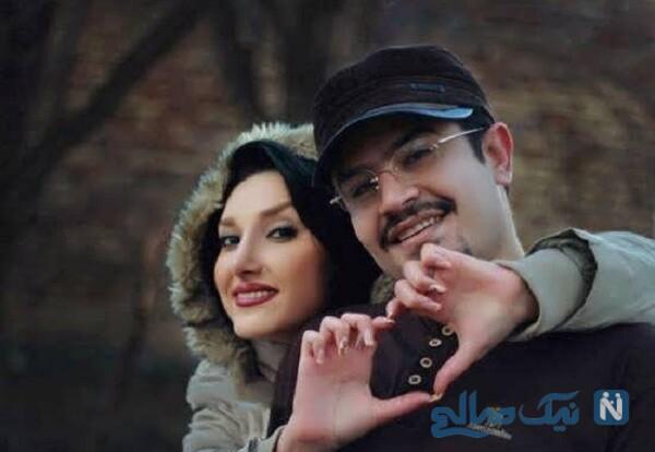 پیمان طالبی مجری معروف و همسرش