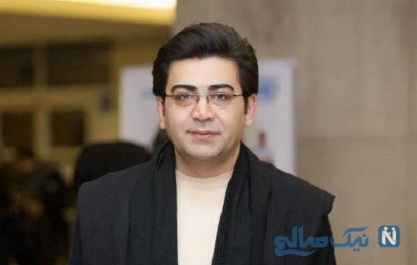 فرزاد حسنی مجری تلویزیون در جشن تولد ۴۰ سالگی دوستش