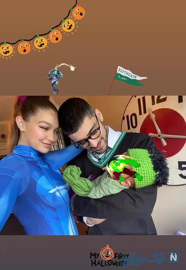 اولین جشن هالووین دختر جی جی و زین
