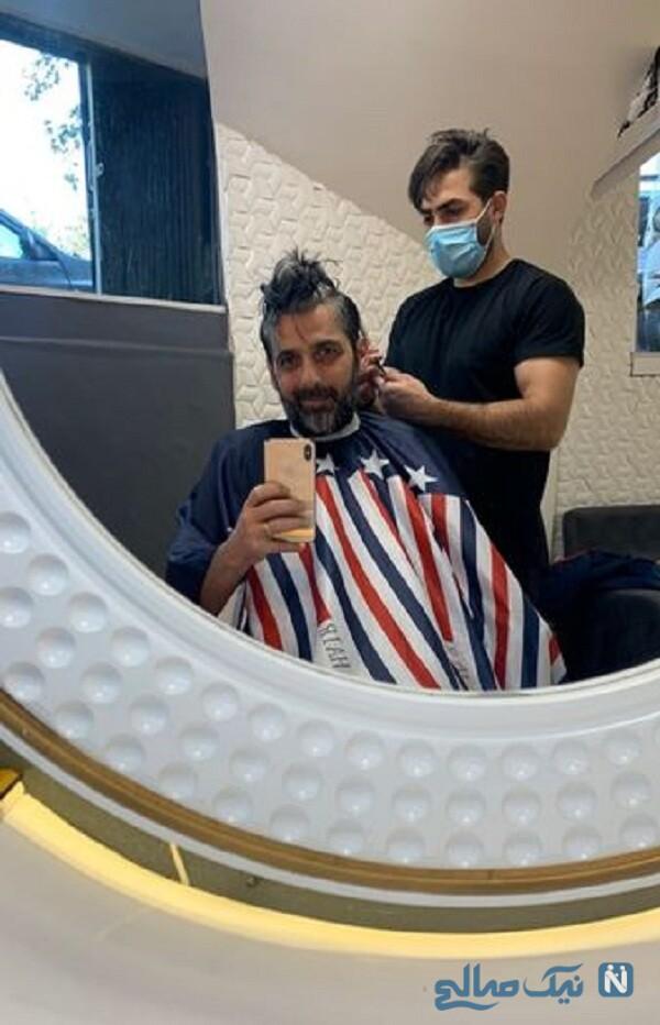 حمید گودرزی در آرایشگاه