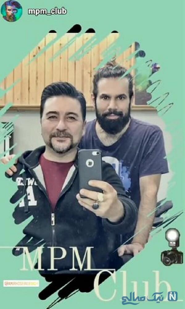 امیرحسین صدیق در آرایشگاه