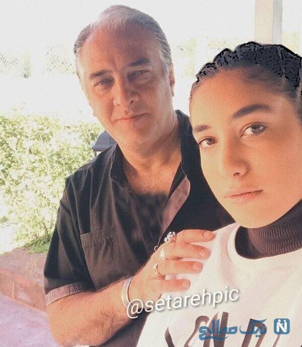 ایرج نوذری و دخترش