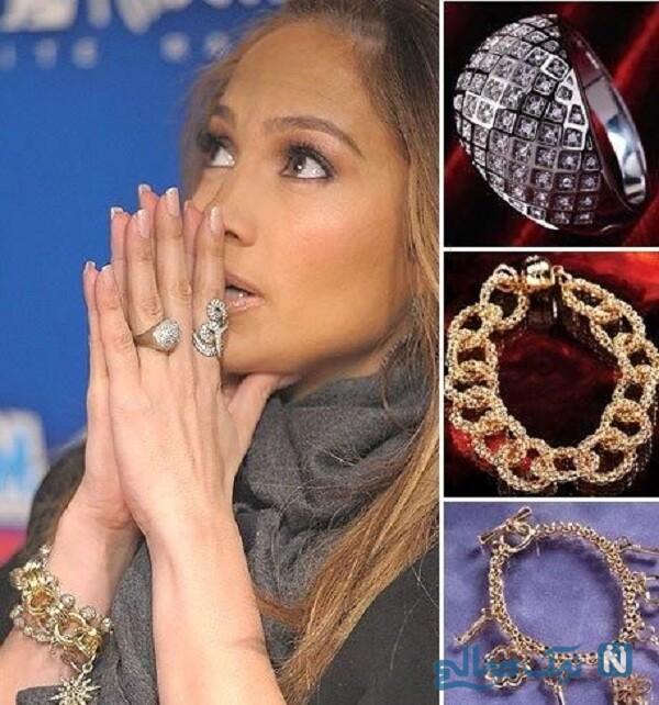 جواهرات زیبای خواننده آمریکایی