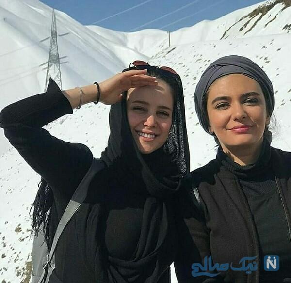 کوهنوردی الناز حبیبی و لیندا کیانی