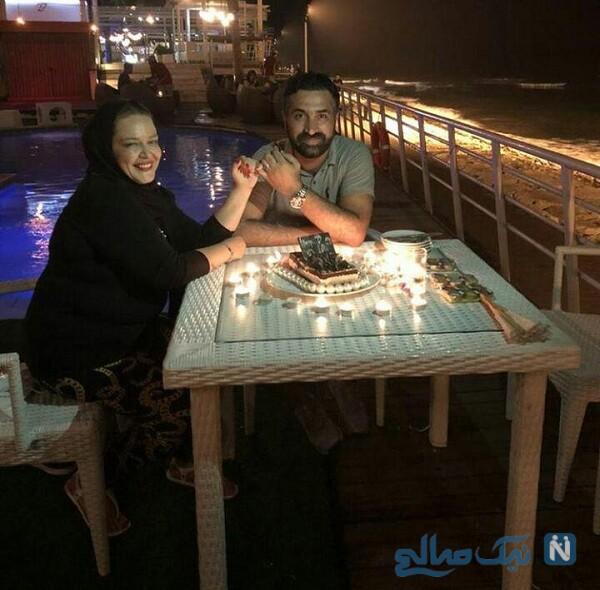 تفریح لاکچری بهاره رهنما و همسرش