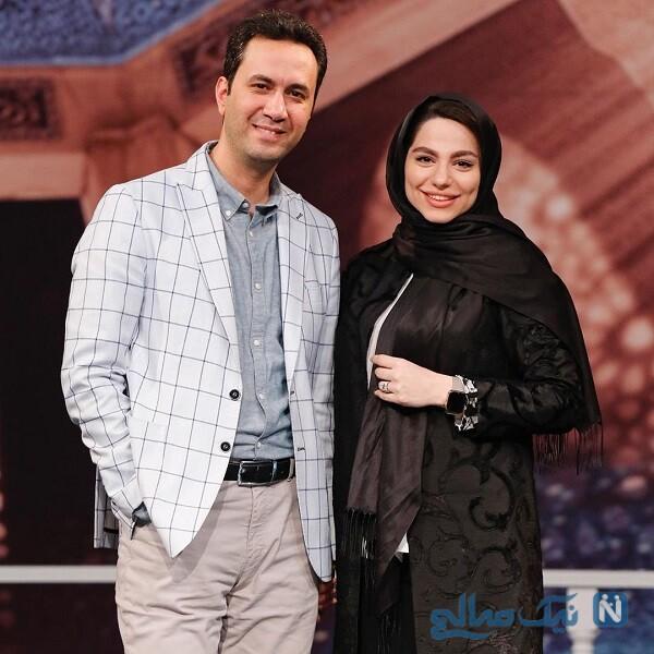 مجتبی کشاورز و همسرش