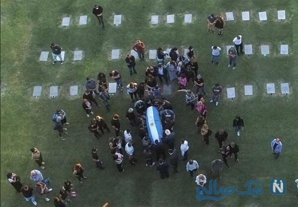 مراسم خاکسپاری مارادونا فوتبالیست معروف