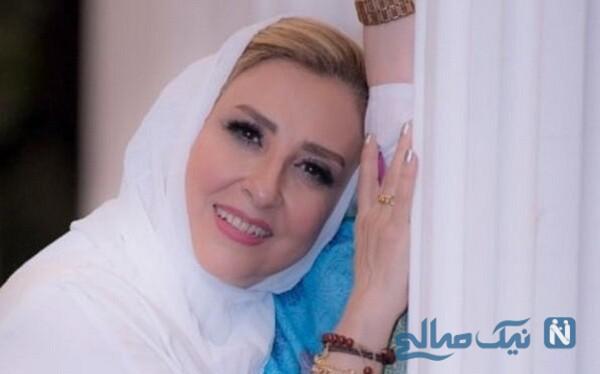 عکسی که مرجانه گلچین از ست زیبای جواهرات اش منتشر کرد