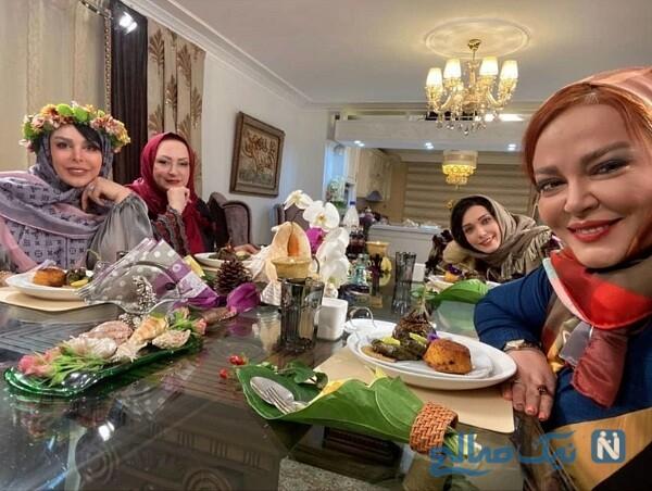 فلور نظری و مریم امیرجلالی در شام ایرانی