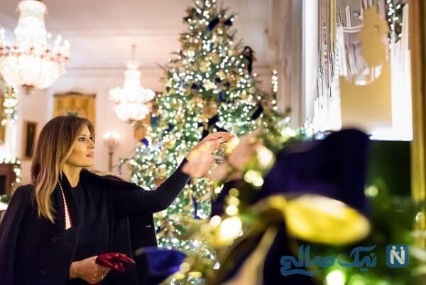 ملانیا ترامپ در کریسمس در کاخ سفید