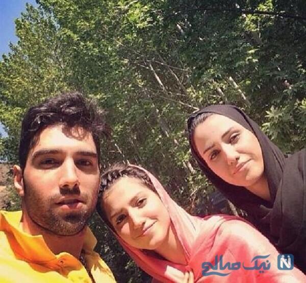 تصویری از محمد موسوی و خواهرش