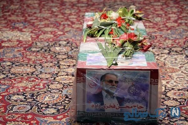 تصاویری از مراسم تشییع محسن فخری زاده