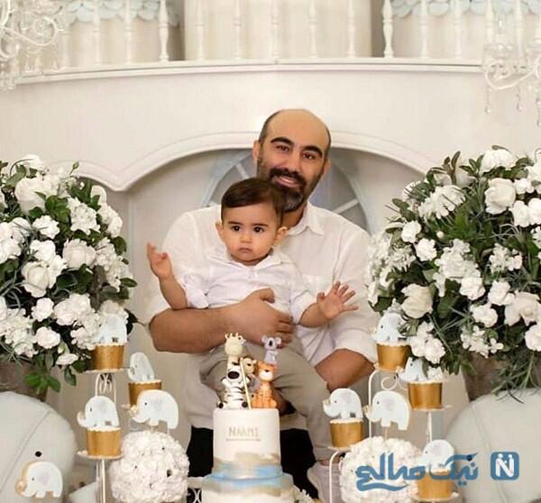تصویری از محسن تنابنده و فرزندش نامی