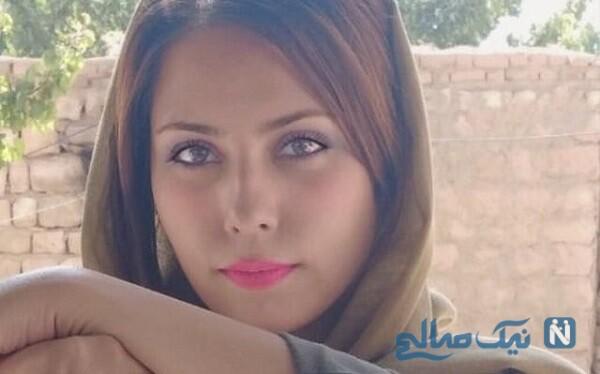 بدلکاری مژگان صادقی در صحنه یک فیلم همراه مهدی کوشکی