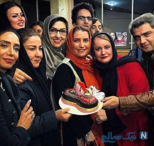 جشن تولد نعیمه نظام دوست بازیگر