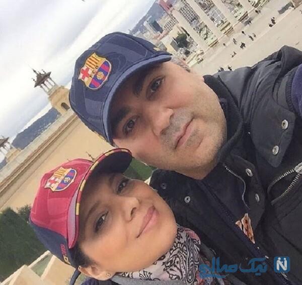 عکس جدید روشنک عجمیان و همسرش