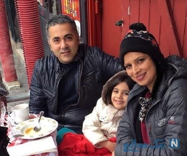 همسر و دختر بازیگر معروف